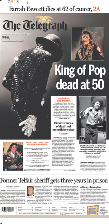 King of Pop dead at 50