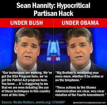 hannity hypocrisy